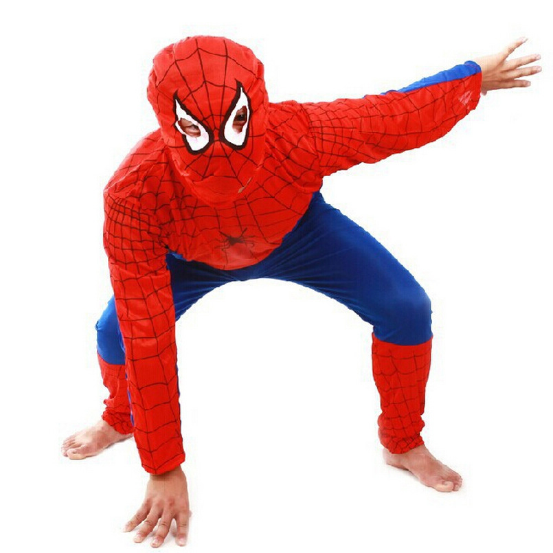 New 2016 Spider Man Children Clothing Sets Fashion Spiderman Cosplay Costume Kids Pajama Sets,Long Sleeve Toddler Baby Sleepwear(China (Mainland))