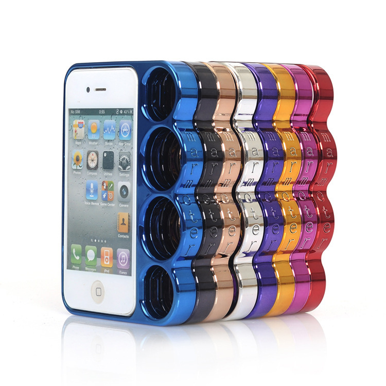 new 2014 For iphone 5 Lord of The Rings brass knuckles hard side rim Tough Bumper for Apple iphone 5 5s(China (Mainland))