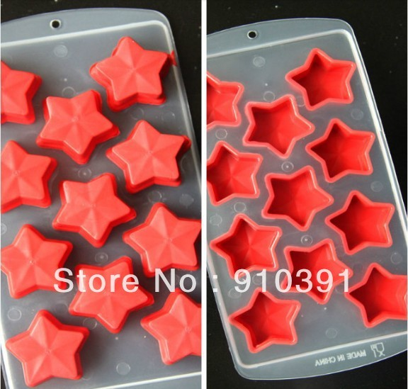Free shipping DIY color cool ice cube tray as freeze star ice mould ice lattice maker for relieve summer heat as cooler tool.