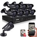 ZOSI 4CH CCTV System 720P DVR 4PCS 1.0MP IR Weatherproof Outdoor Camera Home Security System Surveillance Kits Email Alert