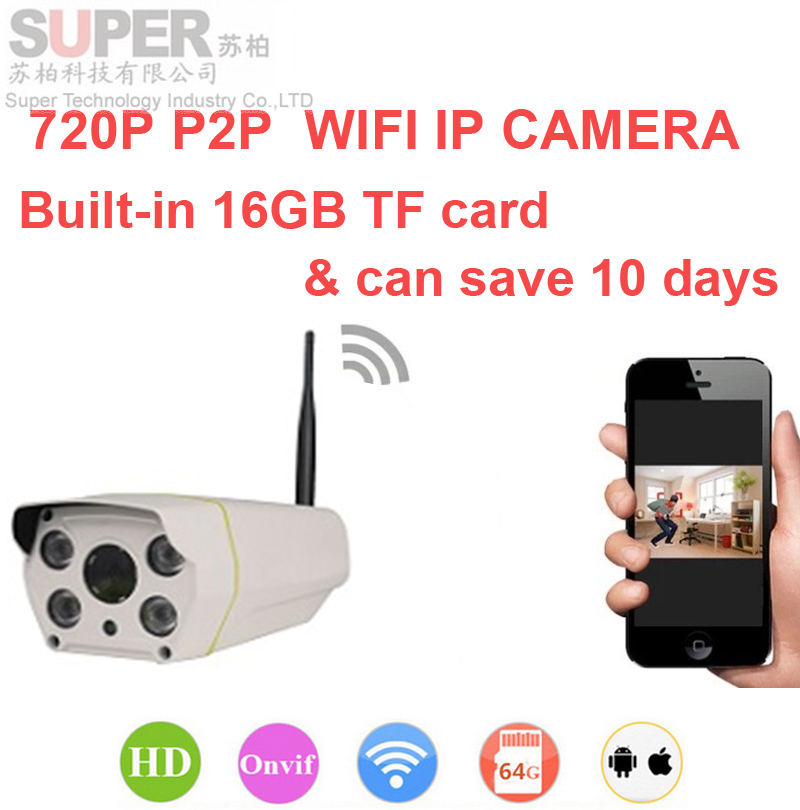 Built-in 16gb can save 10day 720P H.380 P2P camera Video Surveillance WiFi IP Camera Onvif DVR camera V380 1000 peopel to watch(China (Mainland))
