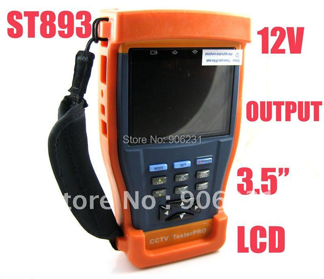 "Free shipping!ST893 Newest 3.5"" LCD Monitor CCTV Camera Test  monitor Video Tester"