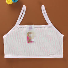 Cotton Baby Girls Solid Color Young Girls Underwear For Sport Wireless Small Training Puberty Undergarment Clothes(China)