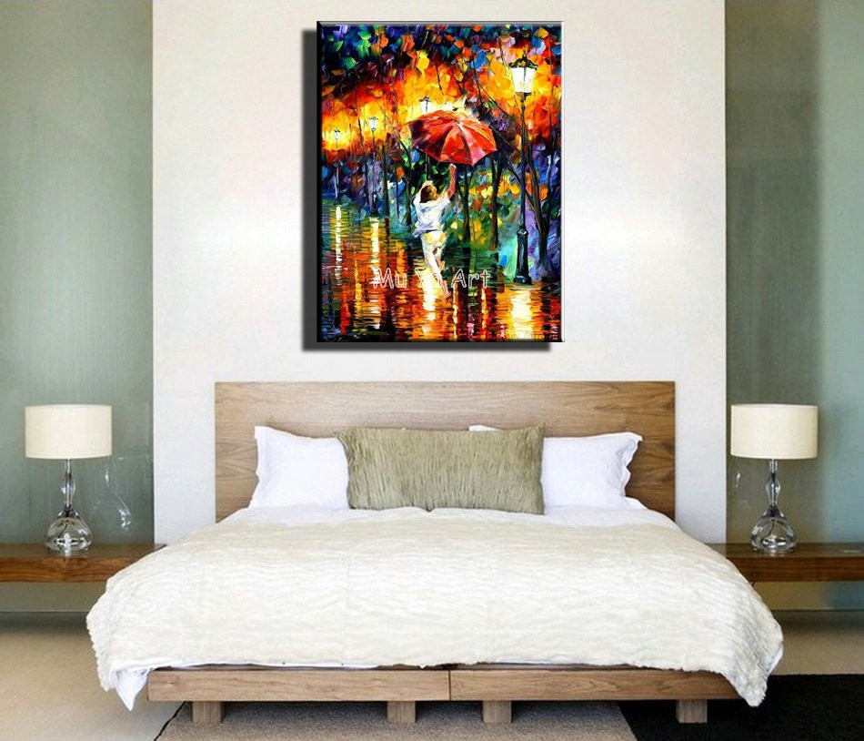 Buy Modern abstract Knife paint canvas wall art hand painted photo oil painting on canvas for living room wall bedroom decoration cheap