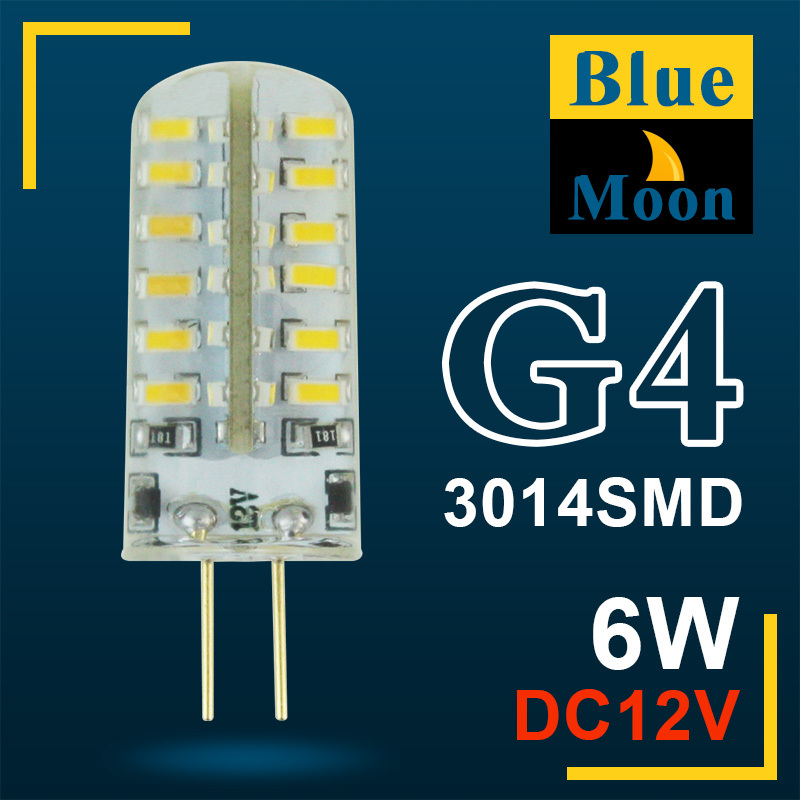 Blue Moon High Power SMD3014 3W 6W AC dc 12v G4 LED Lamp 220V led light 360 Beam Angle LED Bulb Lamps warranty(China (Mainland))