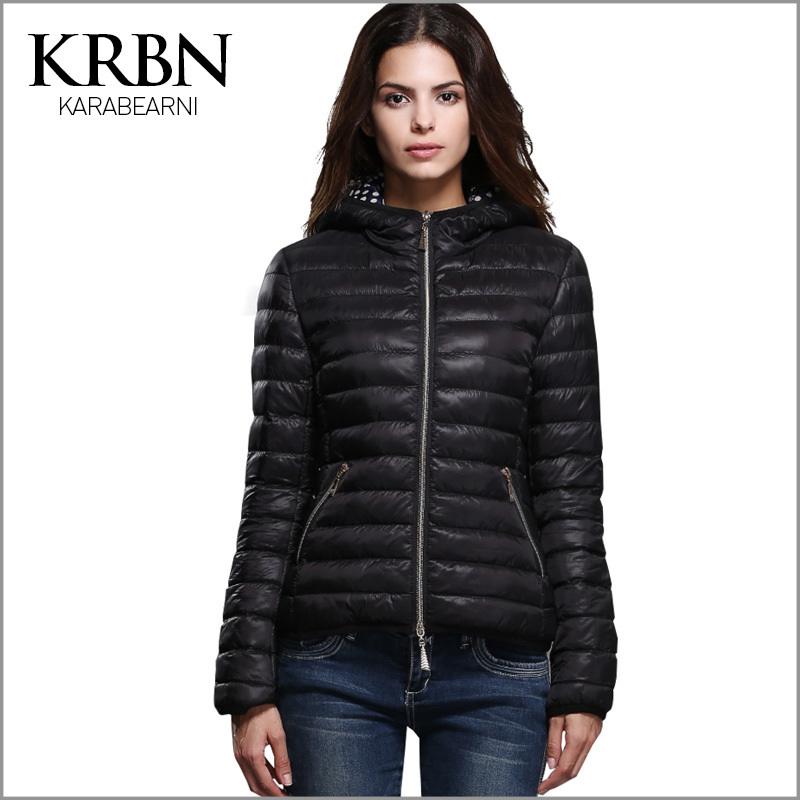 parka winter jacket women coat 2015 casual plus size women clothing black slim with hat warm down parkas for women winter M-009(China (Mainland))