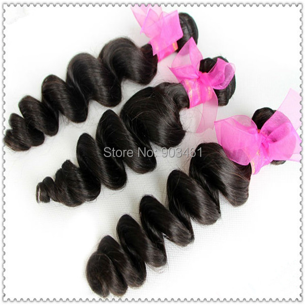 Freeshipping Natural Real Hairpiece 3 pcs/lot 100g/pc 16-30 Inch Afro Kinky Curly Twist Hair Weft #1B Off Black(China (Mainland))