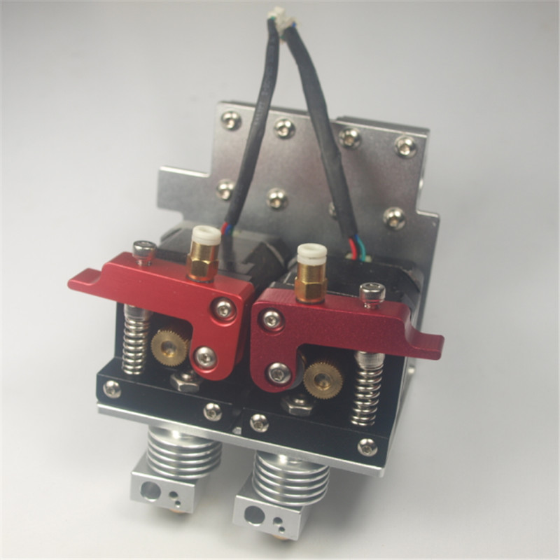 Reprap Prusa i3 3D printer metal dual extruder carriage full kit1 75 mm dual nema17 motor