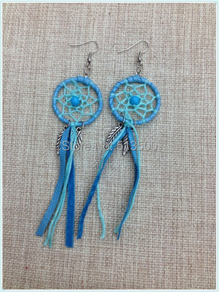 2014 new design mix 3 colors Shipping Free hot sale Native American Dream Catcher earring<br><br>Aliexpress