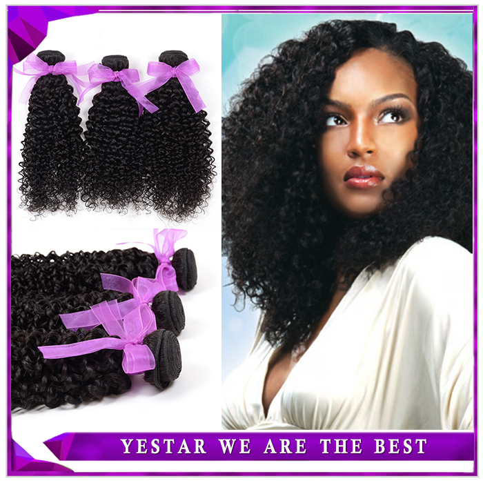 6A Yestar Hair Products Peruvian Kinky Curly Virgin Hair, Unprocessed Peruvian Virgin Hair Weave, Peruvian Curly Hair Extensions(China (Mainland))