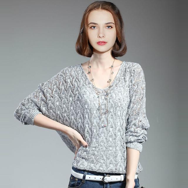 Свитер женщин горячая распродажа 2015 осень зима мода новый женский с длинным рукавом ...