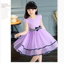 Kids Girls 2016 new summer dress cotton summer dress princess dress children chiffon dress YY009