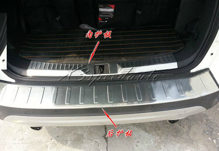 Stainless Steel Inside + Outside Rear Bumper Door Sill Plate Ford Escape Kuga 2013+ - X3speedauto store