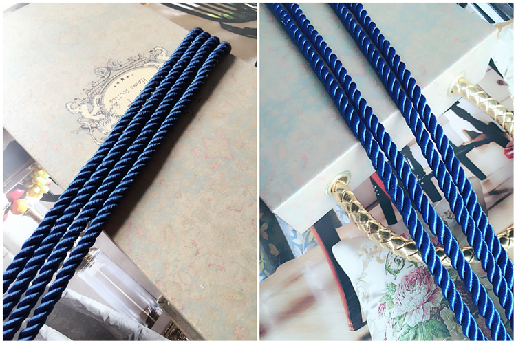 Sofa Cushion Cover Pipping Cord Three Strands of Blue Rope Decorative  Accessories 6mm Diameter Sell by 5 meters per bale - us717 ecba1de996