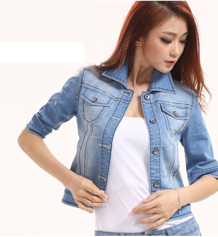 Half Sleeve Denim Jacket - Coat Nj