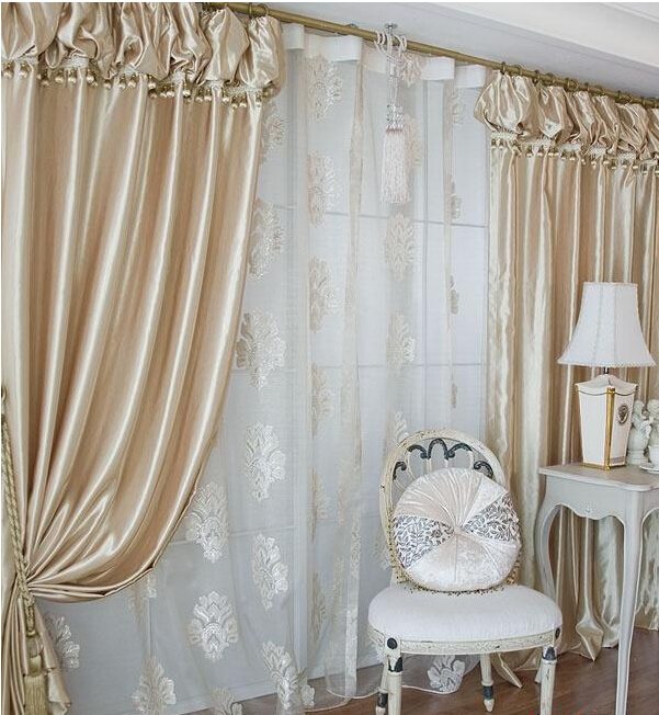 Taupe Kleurige Schoudertassen : Top quality korean lanterns head curtain champagne color
