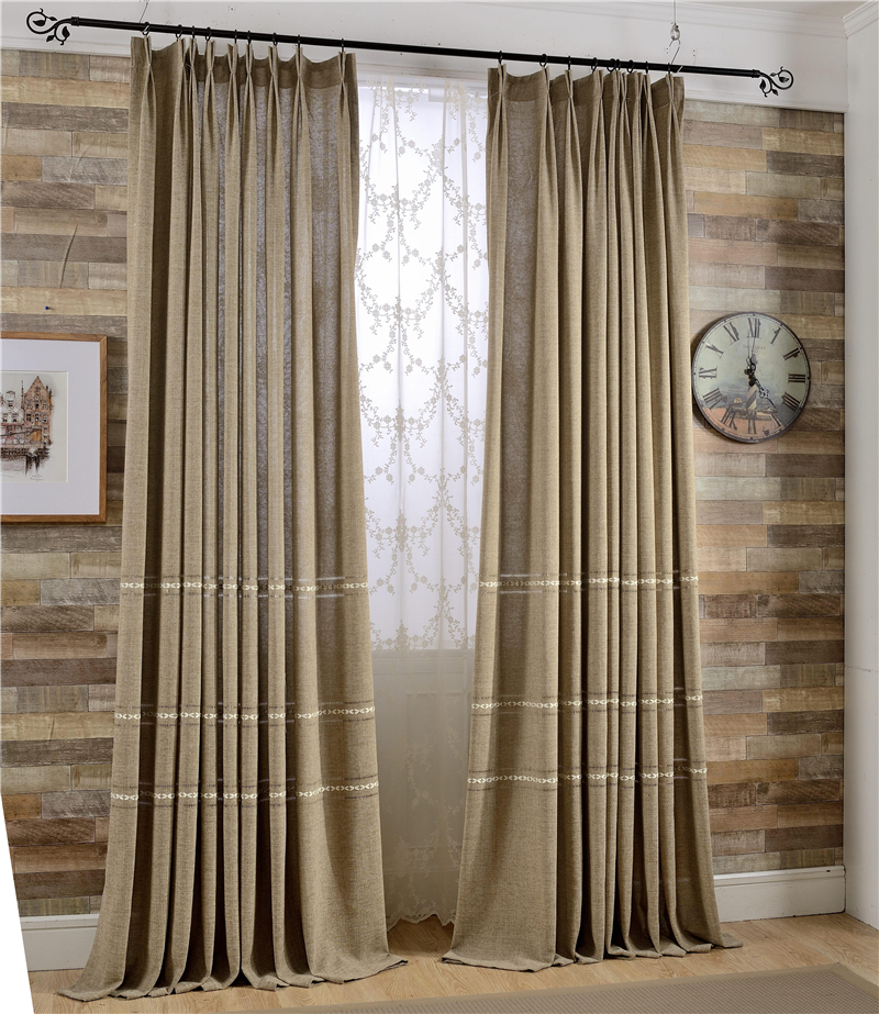 style linen curtain nice quality plain window curtains for living room