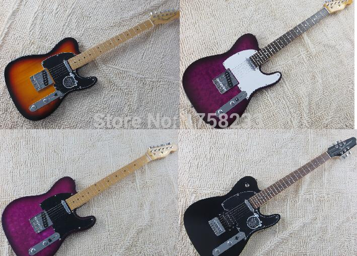 2019 free shipping hot wholesale telecaster handmade pattern purple spot sale guitar electric guitar(China (Mainland))