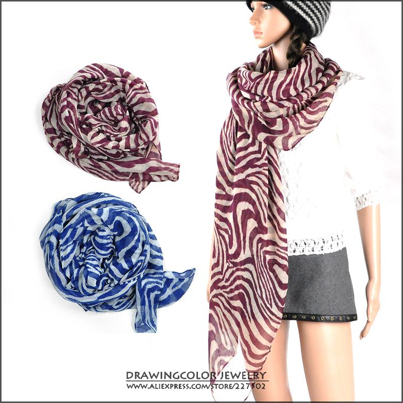 Free shipping!New Fashion Accessories Zebra Scarves Muffler spring Autumn shawl scarf for women nice gift wholesale(China (Mainland))