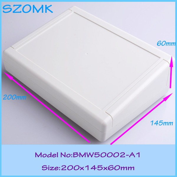 10 pcs/lot custom plastic enclosure wall mounting plastic enclosures for electronics abs diy instrument case housing(China (Mainland))