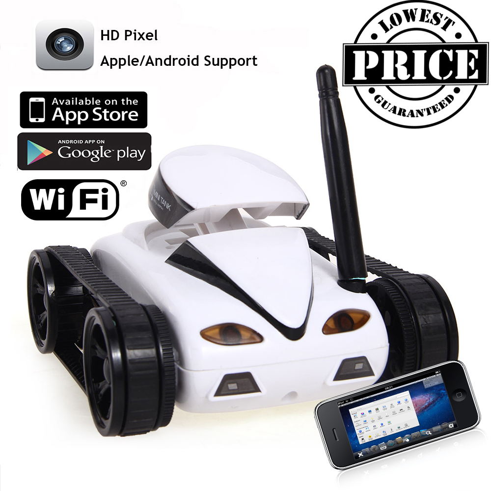 NEW 2016 Mini RC I Spy WIFI Tank Car Video 0.3MP Camera 777-270 WiFi Remote Control By Iphone Android Robot with Camera 4CH APP(China (Mainland))