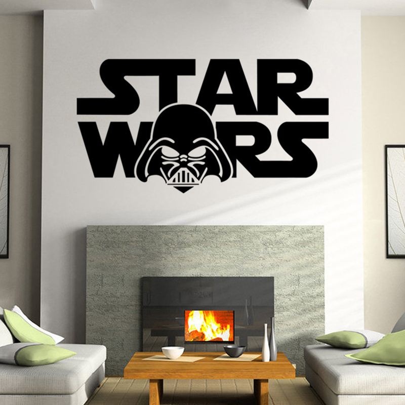 Wall Decor For Guys Living Room : Star wars posters peel and stick wall stickers for kids