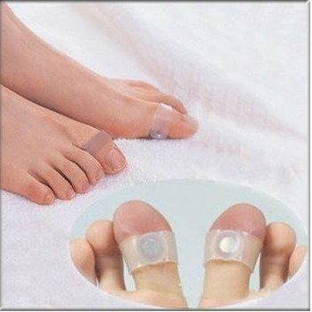Brand New 3pairs/lot  Slim Health Silicon Magnetic Foot Massage Toe Ring with Free Shipping