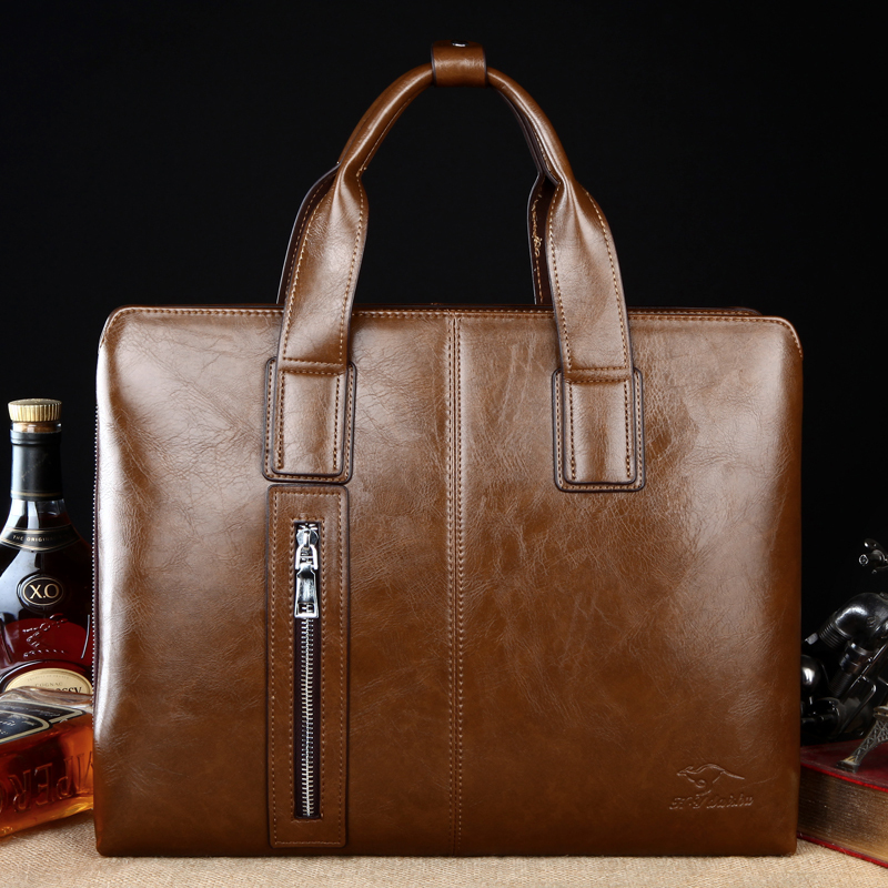2015 New Brand Designer Genuine Leather Men Bag,Casual Men Messenger Bags,14 inch Laptop,Briefcases,Fashion Men's Travel Bags(China (Mainland))