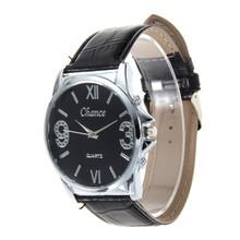 New Quartz-Watch PU Leather Strap Watch Quartz watches Men Luxury Brand Fashion Casual Quartz Sports Watches  Relogio Masculino
