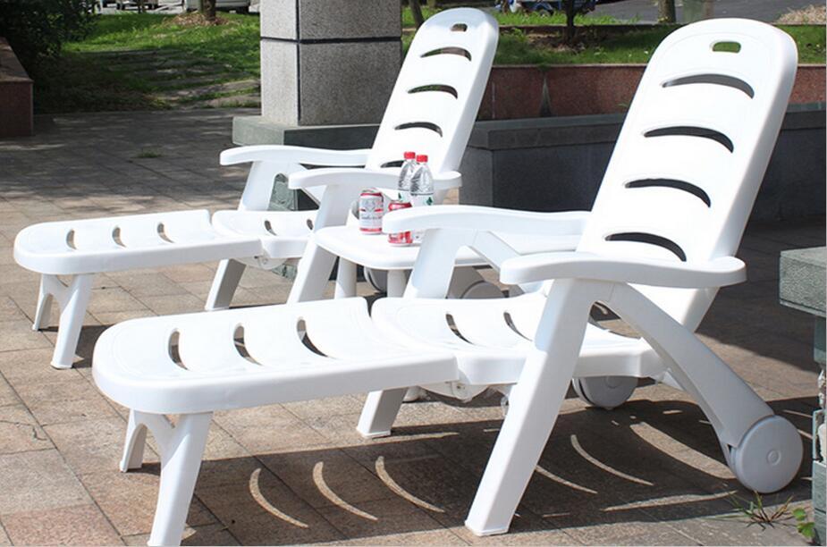 whole set thicken pool folding sun loungers portable deck. Black Bedroom Furniture Sets. Home Design Ideas