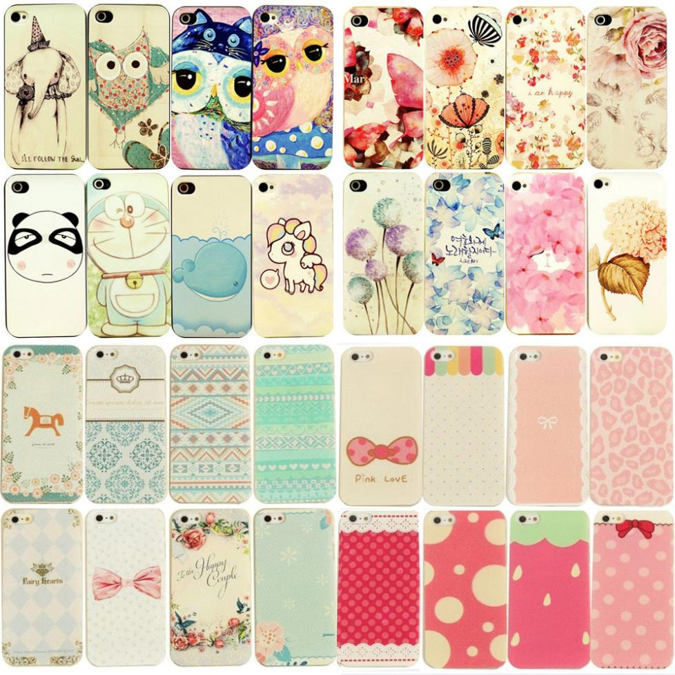 Various Painted Protective Cute Beautiful Hard Case Cover For iPhone 5/5S Back Skin Cover Cell Phone Protect ShockProof Bag(China (Mainland))