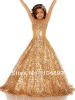 Cute  Fancy r Ruffle Organza Princess Ball Gown Pagent Fllower Girl G  Dress