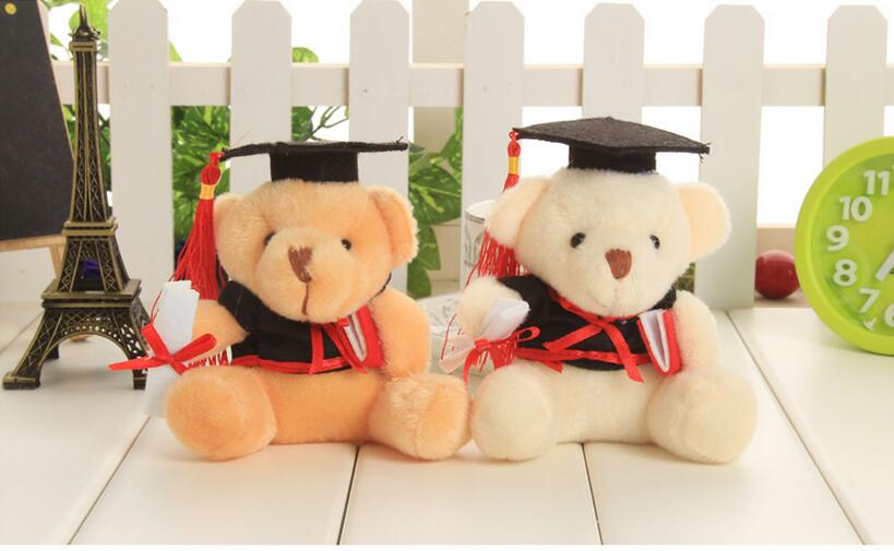10.5cm Cute Cartoon Little Doctor Bear Doll Figure Plush Toy Cellphone Keychain Pendant Kids Toy Brithday Wedding Small Gift(China (Mainland))