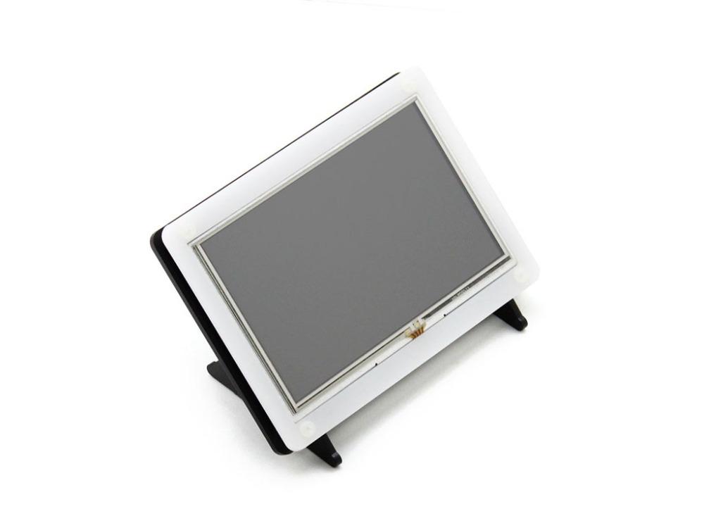 Фотография Raspberry Pi LCD Display 5 inch HDMI LCD (B) 800x480 Touch Screen Supports Raspberry Pi 2 B Banana Pi / Pro with bicolor case