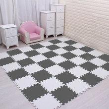 Mei Qi Keren BABY EVA Busa Bermain Teka-teki untuk Anak-anak Ukuran Saling Latihan Ubin Lantai Karpet Karpet, setiap 30X30cm18 24/30 Pcs Playmat(China)