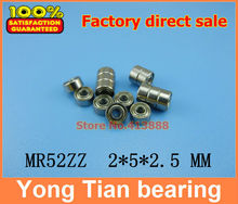 10pcs High quality Low-speed bearings MR52 Z  MR52ZZ MR52Z L-520ZZW52 2 x5x2. 5 mm