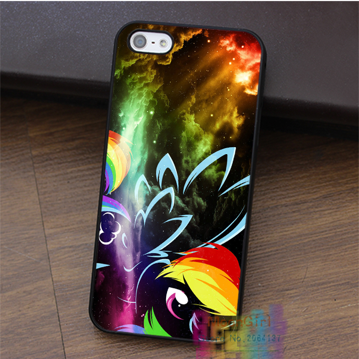 My Little Pony & Rainbow Dash fashion cell phone case for iphone 4 4s 5 5s 5c SE 6 6s & 6 plus & 6s plus #LI2213
