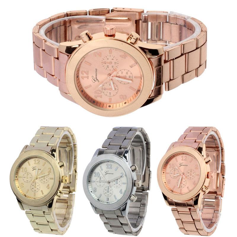Гаджет  2015 Geneva Watch Full Steel watches women luxury brand Women  Watch for Man Ladies Unisex Quartz wristwatches None Часы
