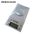 NEWACALOX Digital Scale 0 001g 50g Laboratory Electronic Balance Gold Bijoux Diamond Medical Precision Jewelry Scale