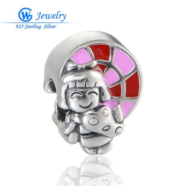 Новый Онлайн Мода Стерлингового Серебра 925 Шарм Девушка Милые Прелести подходит ...