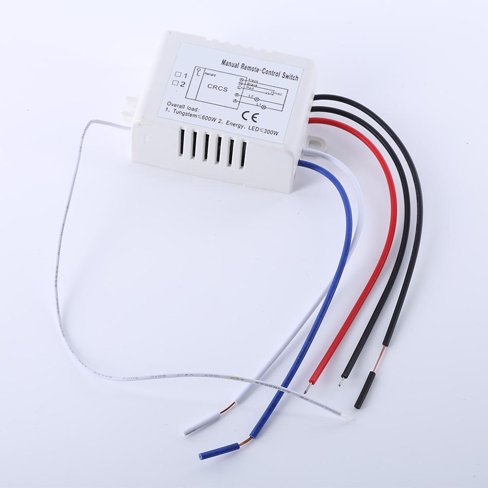Гаджет  2015 Hot Drahtlose 2 Ways ON /OFF 220V Lampen-Fernsteuerung Schalter Receiver Transmitter  None Электротехническое оборудование и материалы