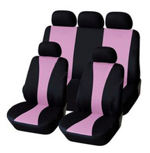 2017 Interior Accessories Universal Fit Car Seat Cover Auto Cushion Pink Black