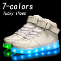 Eur25 37 USB Charging Basket Led Children Shoes With Light Up Kids Casual Boys Girls Luminous