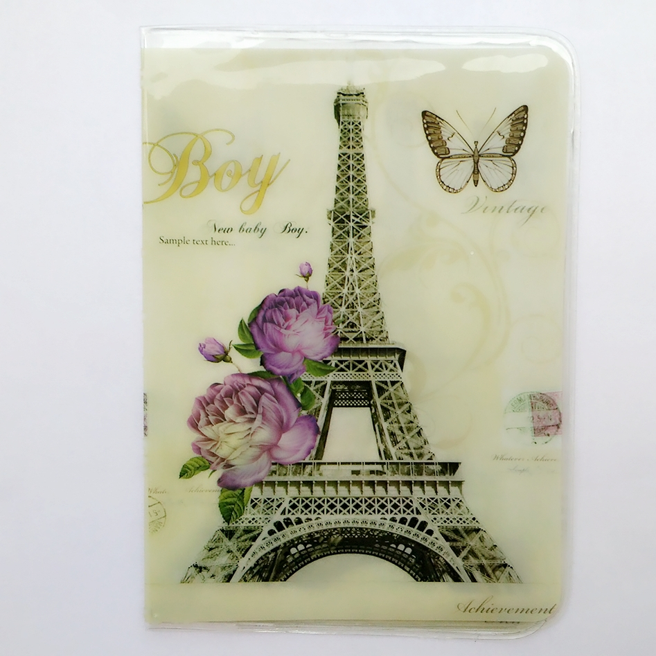 The Eiffel Tower in Paris Passport Holder, PVC Leather 2D Thin Travel Passport Cover ID Card Holder Size:10*14cm Multiple Choice(China (Mainland))
