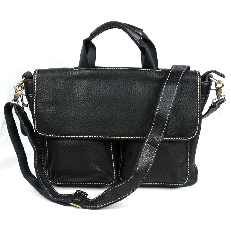 2015 First Layer Leather Briefcase Fashion Business Men Shoulder Messenger Bag Designer Handbags High Quality Leather Laptop Bag<br><br>Aliexpress