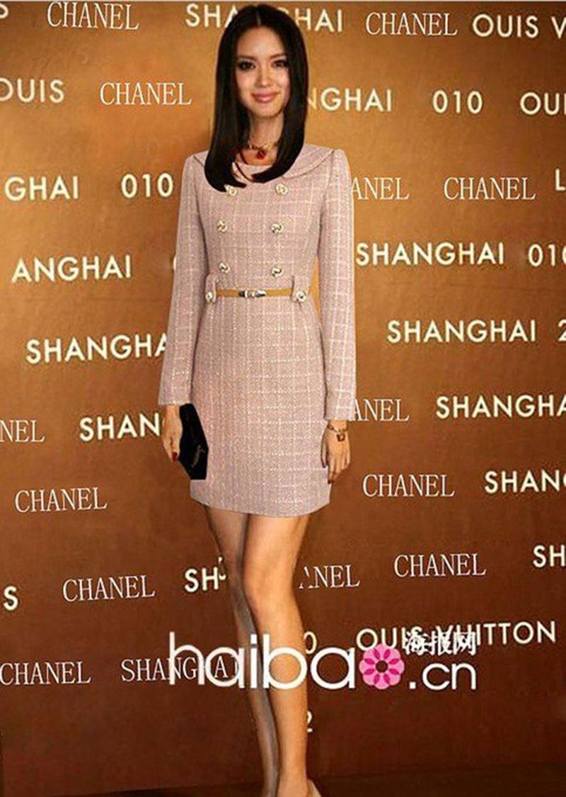 free ship!100% high grade! autumn/winter wool women long sleeve dresses, business ol plaid dress with belt,pink,dark blue(China (Mainland))