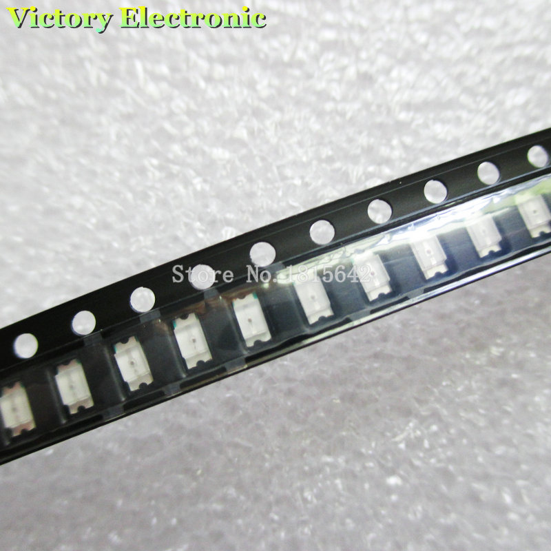 100PCS/LOT 1206 Red SMD LED Diode Light 3216 Diodes SMD Super Bright 1206 led 3.2*1.6mm Red Color New(China (Mainland))