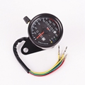 Brand New Universal Motorcycle Dual Odometer Speedometer Gauge LED Backlight Signal Light 12V Digital Motorcycle Gauge