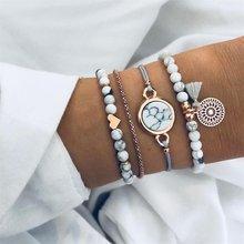 AILEND Bohemian Turtle Bracelet Women Fashion Simulation Pearl Multilayer Bracelet DIY Handmade Jewelry Gifts(China)
