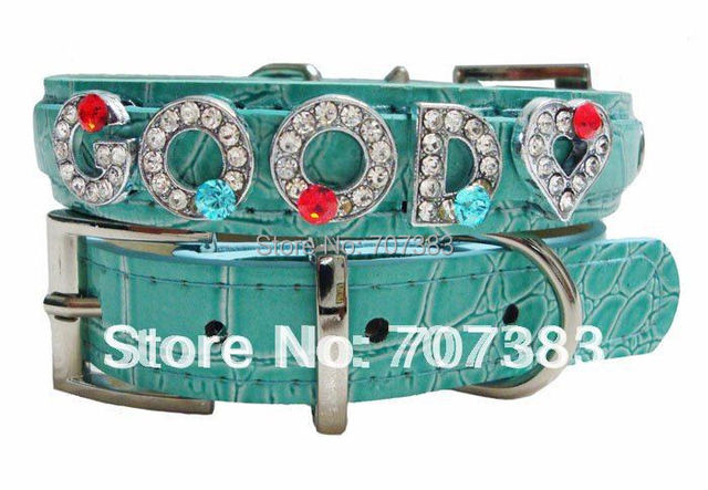2015 new Multicolors Personalized Include Letters Rhinestone Dog Cat Pet Name PU Leather Collar Products Supply